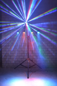 4x LED PAR, Effekt & Stativ