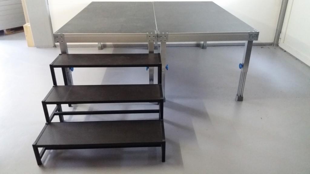 Bühnenpodest 1 x 2 m, BÜTEC KOMPAKT 3000 MS