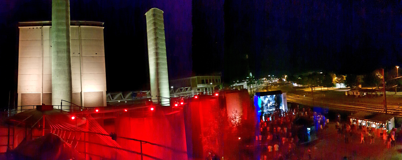 Heizwerk Festival Beleuchtung
